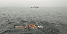 Turkish man first Muslim to swim across North Channel