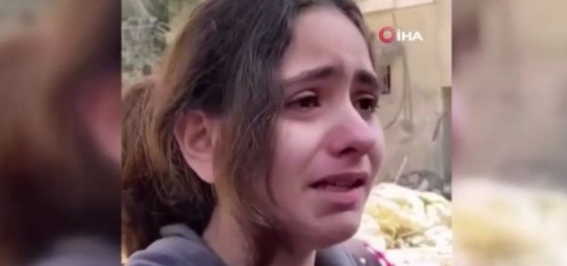 10-YEAR-OLD PALESTINIAN GIRL SURVIVES BOMBING IN GAZA