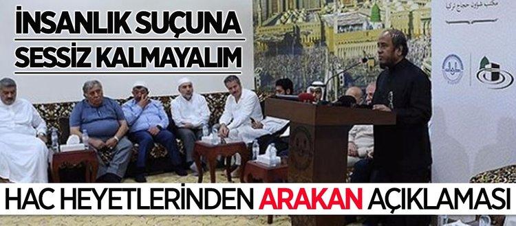 Mekke'de hac heyetleri Arakan'ı konuştu
