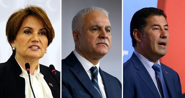 Meral Aku015fener (L), Koray Aydu0131n (C) and Sinan Ou011fan
