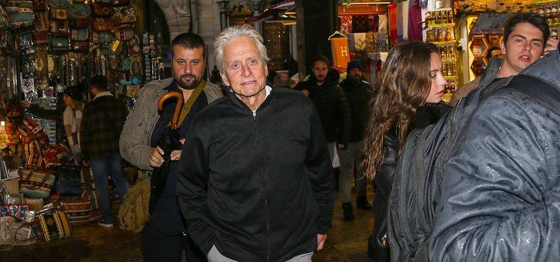 MICHAEL DOUGLAS VISITS ISTANBUL'S ICONIC BAZAAR