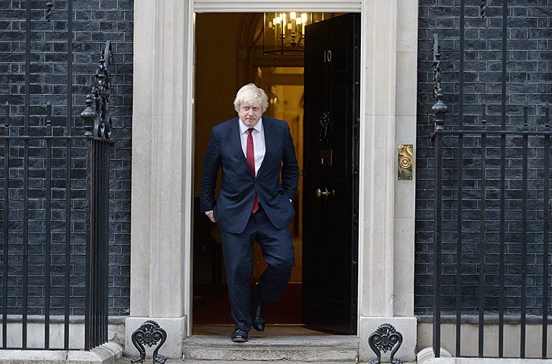 Newly appointed Foreign Secretary Boris Johnson leaves 10 Downing Street in central London on July 13, 2016 after new British Prime Minister Theresa May took office. (AFP Photo)