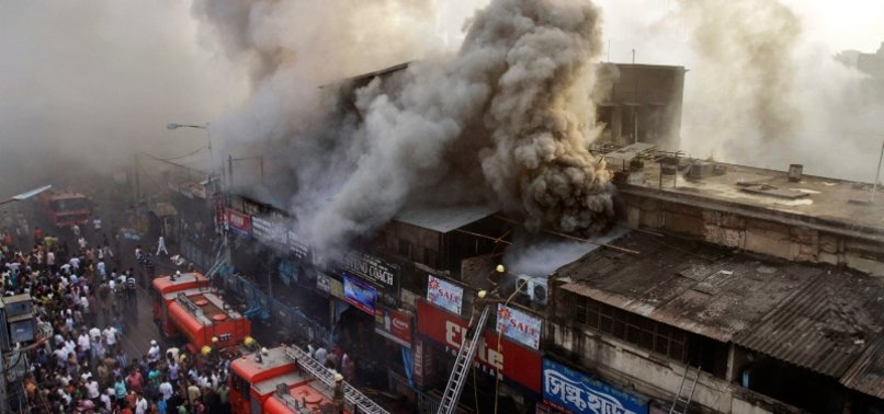 INDIA: FIRE BREAKS OUT AT COMMERCIAL COMPLEX IN KOLKATA