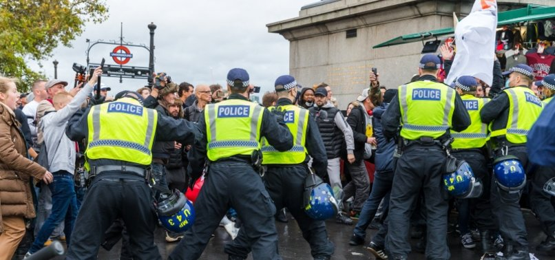 UK: VIRUS CASES CLIMB AS PROTESTERS MARCH IN LONDON