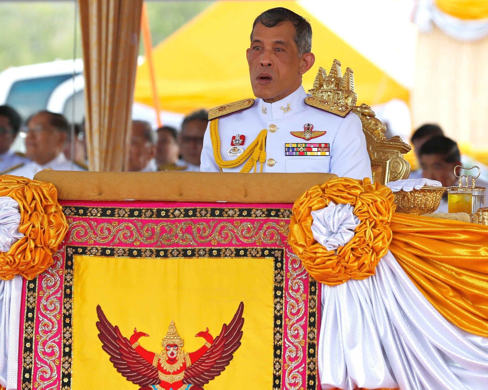 Thai Crown Prince Maha Vajiralongkorn presiding over the Royal Ploughing ceremony at Sanam Luang in Bangkok, Thailand. (EPA Photo)