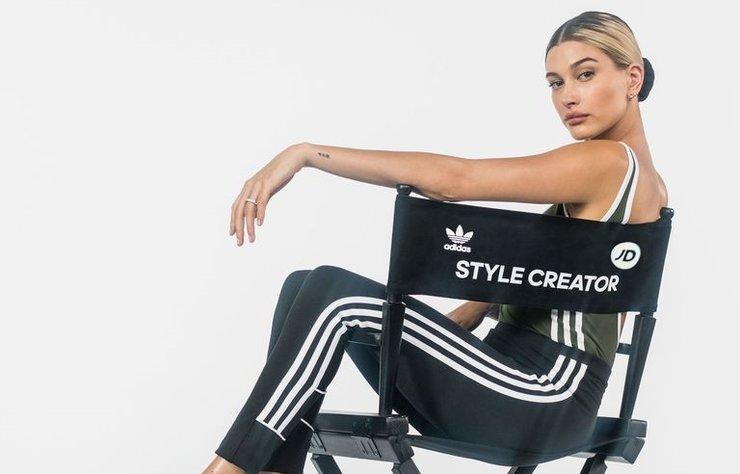 Yeni rolünde Hailey Baldwin, Adidas ve JD Woman işbirliği ile kadın spor giyim koleksiyonunun yaratıcı sesi oluyor.