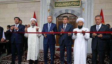 Bişkek Cumhuriyet Merkez İmam Serahsi Camii dualarla ibadete açıldı