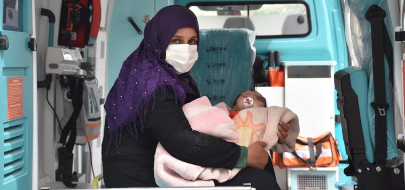 SYRIAN BABY BROUGHT TO TURKEY FOR MEDICAL TREATMENT