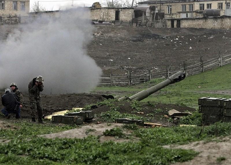 Armenian artillery position in Karabakh. April 2016. (EPA file photo)
