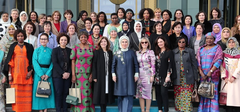 FIRST LADY WELCOMES FEMALE ENVOYS, SPOUSES ROLE IN FORGING CULTURAL DIALOGUE