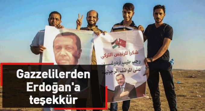 Gazzelilerden Erdoğana teşekkür
