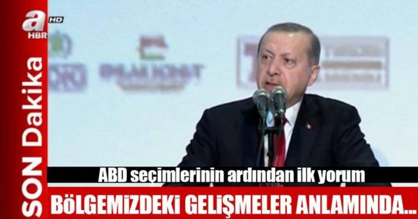 Erdoğan: ABD'nin bu tercihini hayra yormak istiyorum