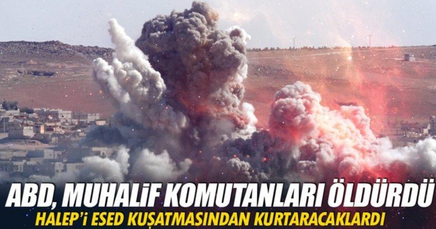ABD Suriye'de Muhalif komutanları vurdu!