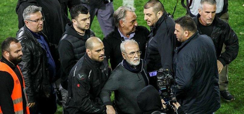GREEK FOOTBALL CLUB PRESIDENT APOLOGISES AFTER GUN INCIDENT