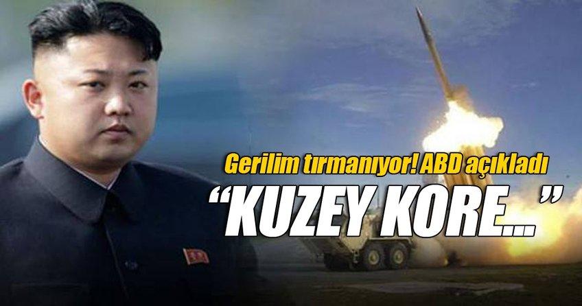 Gerilim tırmanıyor! ABD'den Kuzey Kore açıklaması!