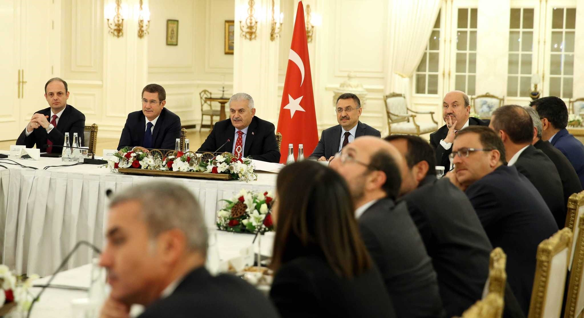 Prime Minister Yu0131ldu0131ru0131m held a special meeting with the heads of Turkish banks late Tuesday.