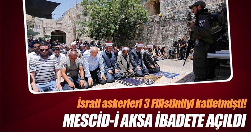 Mescid-i Aksa ibadete açıldı ama...