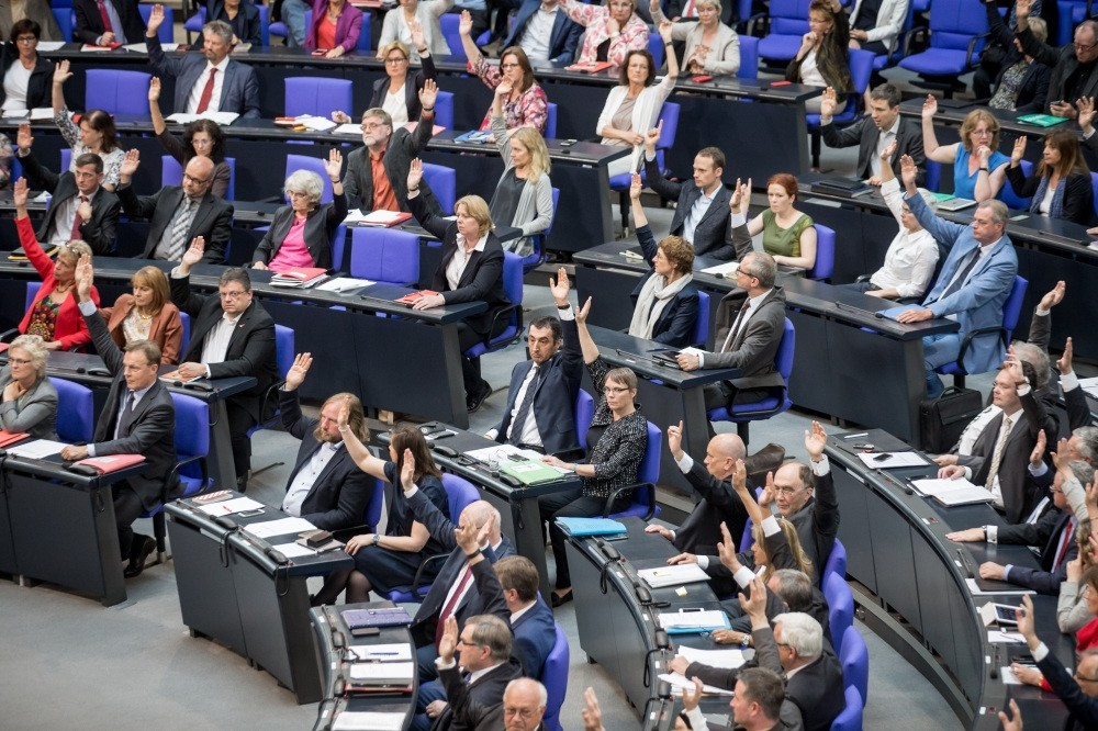 Members of the German parliament cast their votes to acknowledge the Armenian genocide of 1915-16.