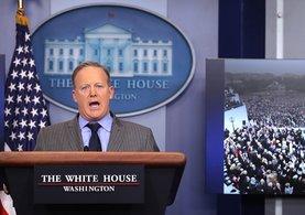 Beyaz Saray Sözcüsü Sean Spice ilk toplantısında sert çıktı