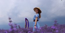 Nature-lovers flock to fields of fragrant lavender to take photo