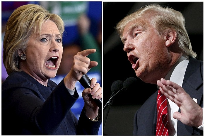 Democratic presidential candidate Hillary Clinton (L) and Republican presidential candidate Donald Trump (Reuters Photo)