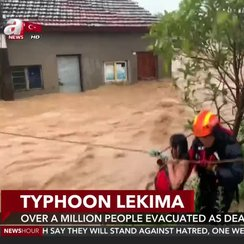 Over a million people evacuated as deadly typhoon hits China - anews