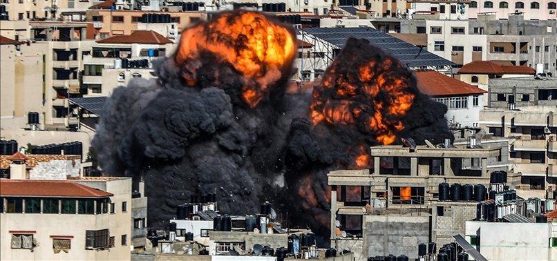 ISRAELI WARPLANES DESTROY ANOTHER BANK BUILDING IN GAZA