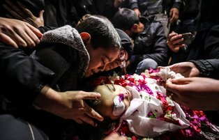 Funeral ceremony of 4-year-old Palestinian in Gaza