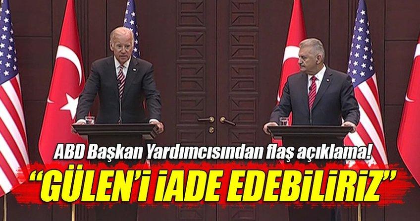 ABD Başkan Yardımcısı Biden: Bu şekilde Gülen'i iade edebiliriz