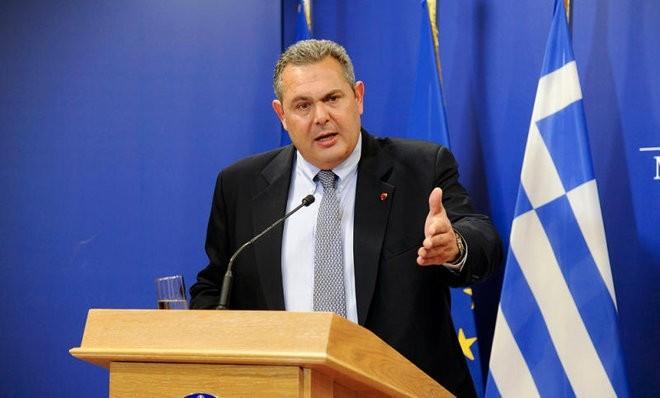 Greek Defense Minister Panos Kammenos. (REUTERS Photo)