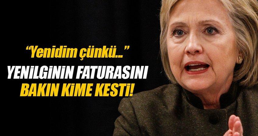 Clinton yenilginin faturasını FBI'ya kesti