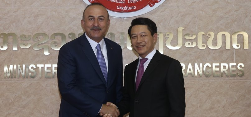 TURKISH FOREIGN MINISTER MEETS HIS LAOTIAN COUNTERPART