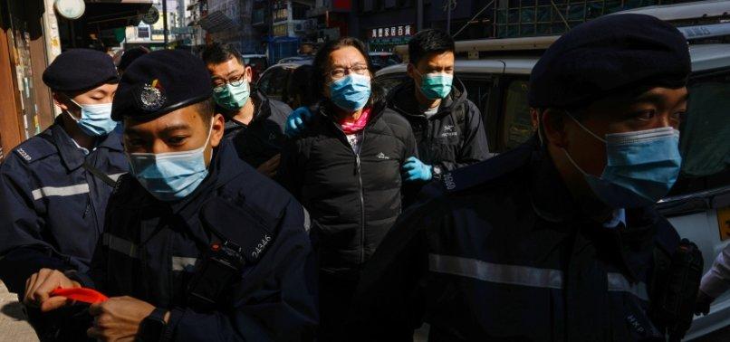 HONG KONG POLICE ARREST 11 ON SUSPICION OF AIDING ACTIVISTS ESCAPE ATTEMPT