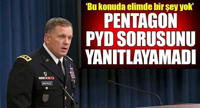 Pentagon, PKK/PYDye isim önerisi sorusunu yanıtlayamadı!