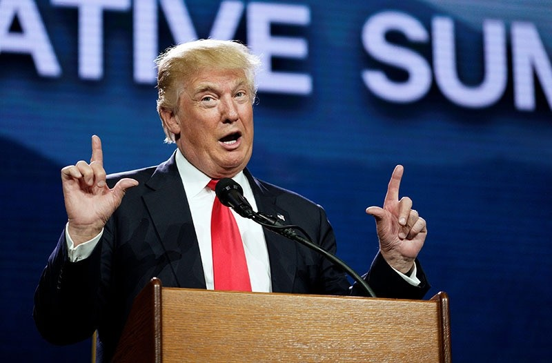U.S. Republican presidential candidate Donald Trump speaks at the Western Conservative Summit in Denver July 1, 2016. (Reuters)
