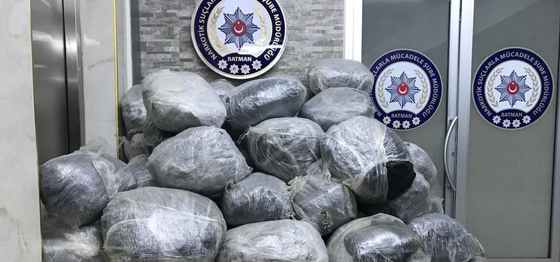 OVER 450 KILOGRAMS OF CANNABIS SEIZED IN EASTERN TURKEY