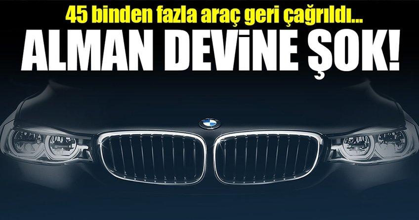 BMW ABD'de 45 binden fazla aracını geri çağırıyor!