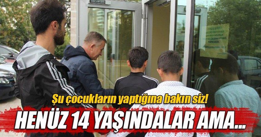 Okul önünde öğrencilerden zorla para alan çocuklar yakalandı