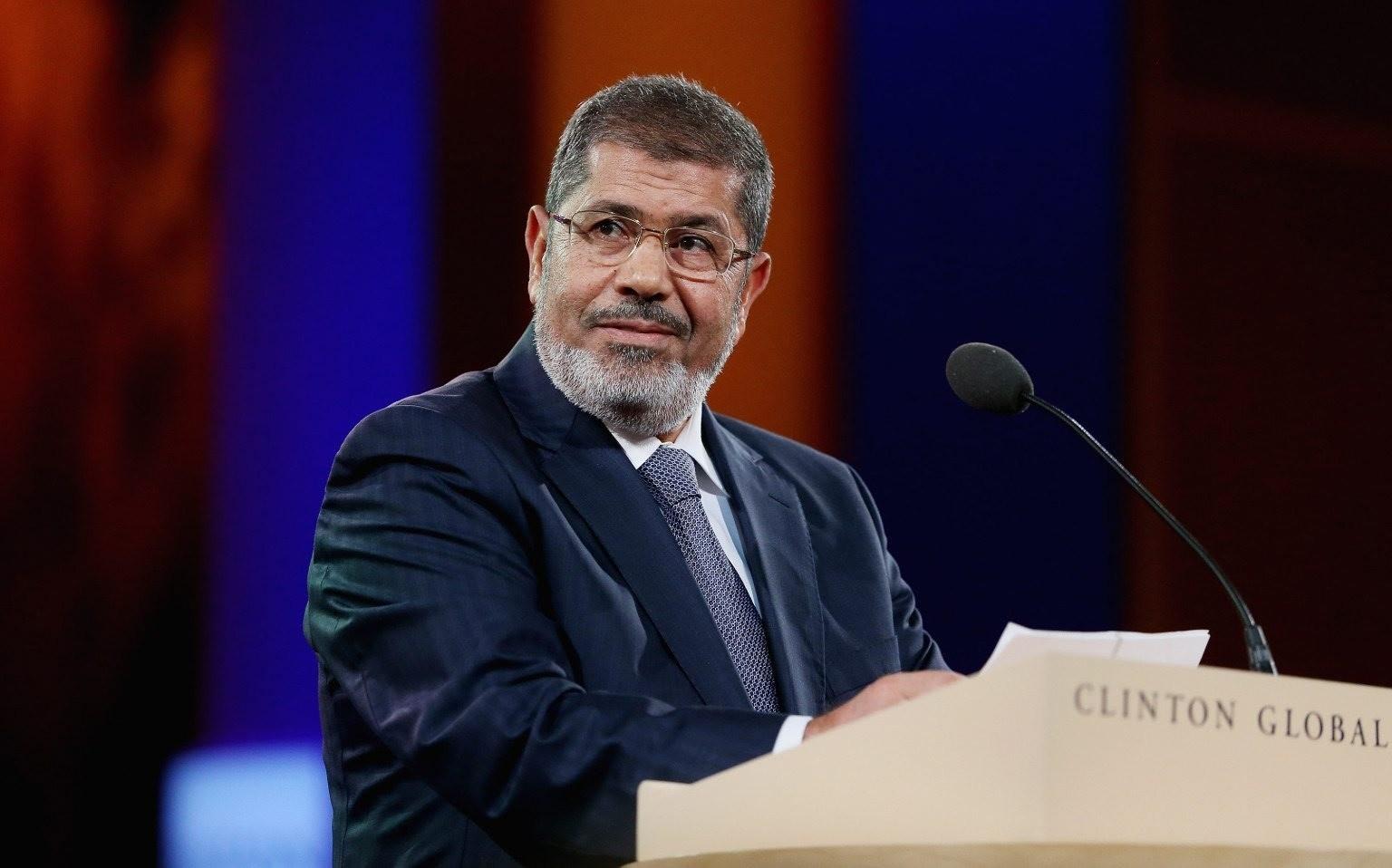 Egyptian President Mohamed Morsi speaks at the Clinton Global Initiative meeting on September 25, 2012 in New York City.