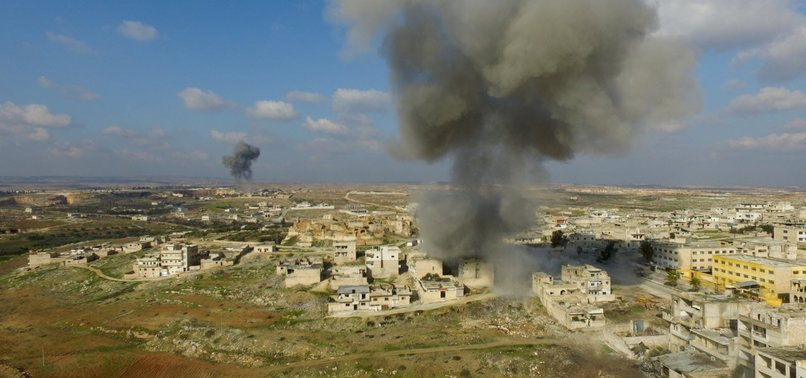 RUSSIA RESUMES AIRSTRIKES IN SYRIAS OPPOSITION-HELD IDLIB