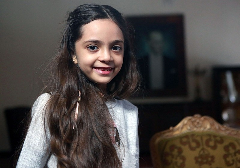 This file photo taken on December 22, 2016 shows Syrian girl Bana al-Abed, known as Aleppo's tweeting girl, posing during an interview in Ankara. (AFP Photo)