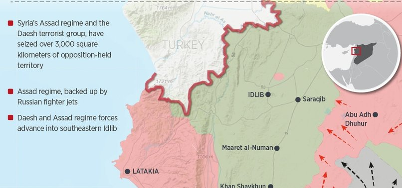 SYRIA REGIME, DAESH SEIZE 3,000 SQUARE KMS IN IDLIB