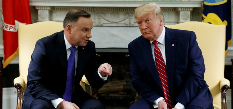 TRUMP SAYS US SENDING 1,000 MORE TROOPS TO POLAND