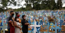 Brazil daily virus deaths again top 1,000