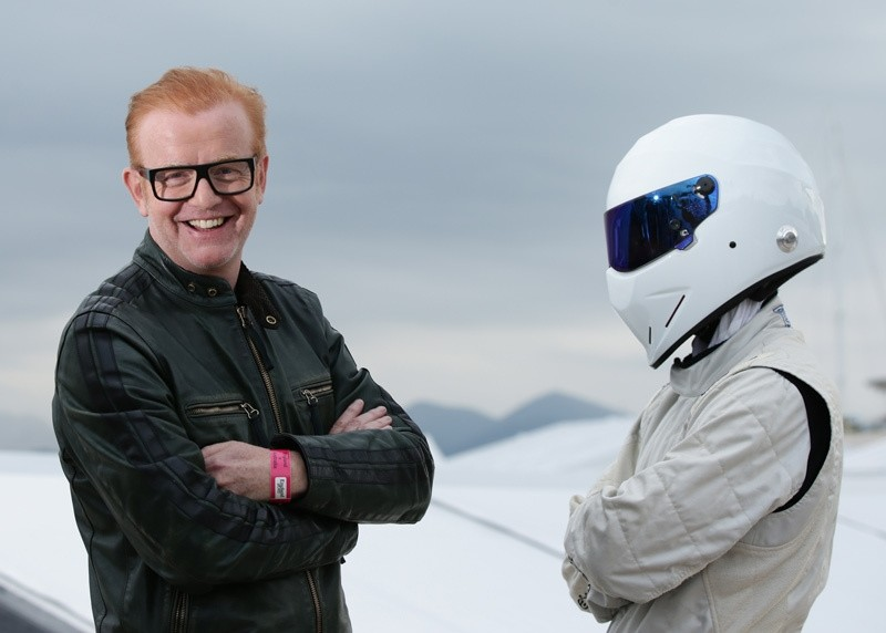 Chris Evans, left, standing with ,The Stig, in Cannes, France. Host Chris Evans has announced Monday July 4, 2016, that he is quitting the BBCu2019s flagship car show u201cTop Gearu201d  AP Photo