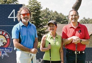 Ünlü golfçüler üç gün süren turnuvada buluştu