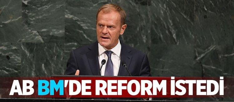 AB de BM'de reform istedi