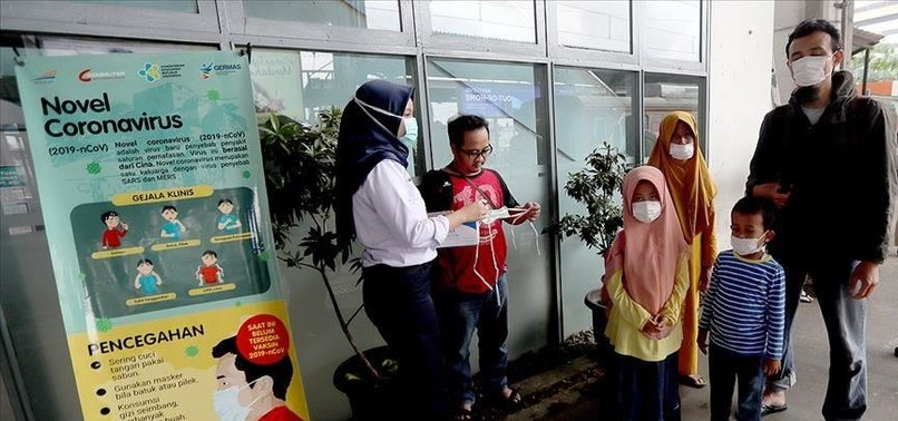 INDONESIA SEES 8,892 NEW CORONAVIRUS INFECTIONS, HIGHEST SINCE FEB. 23