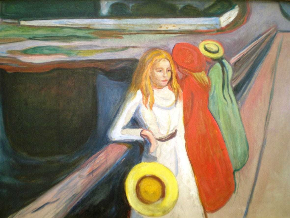 Edvard Munch, u201cThe Girls on the Bridgeu201d