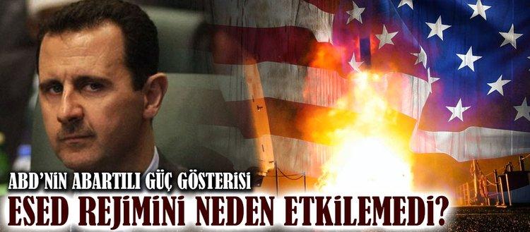 ABD'nin Suriye saldırısı abartılı bir güç gösterisi